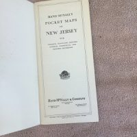 Rand McNally (1940's ) New Jersey Map