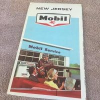 Mobil Map of New Jersey (1965)