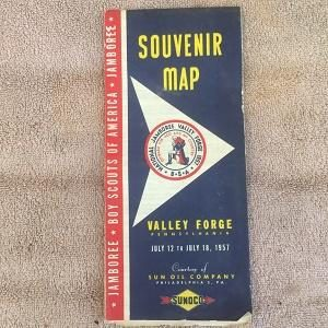 Sunoco Souvenir Map of Valley Forge (Boy scout Jamboree) (1957)